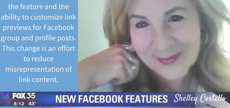 Facebook eliminated the feature and the ability to customize link previews for Facebook group and profile posts.